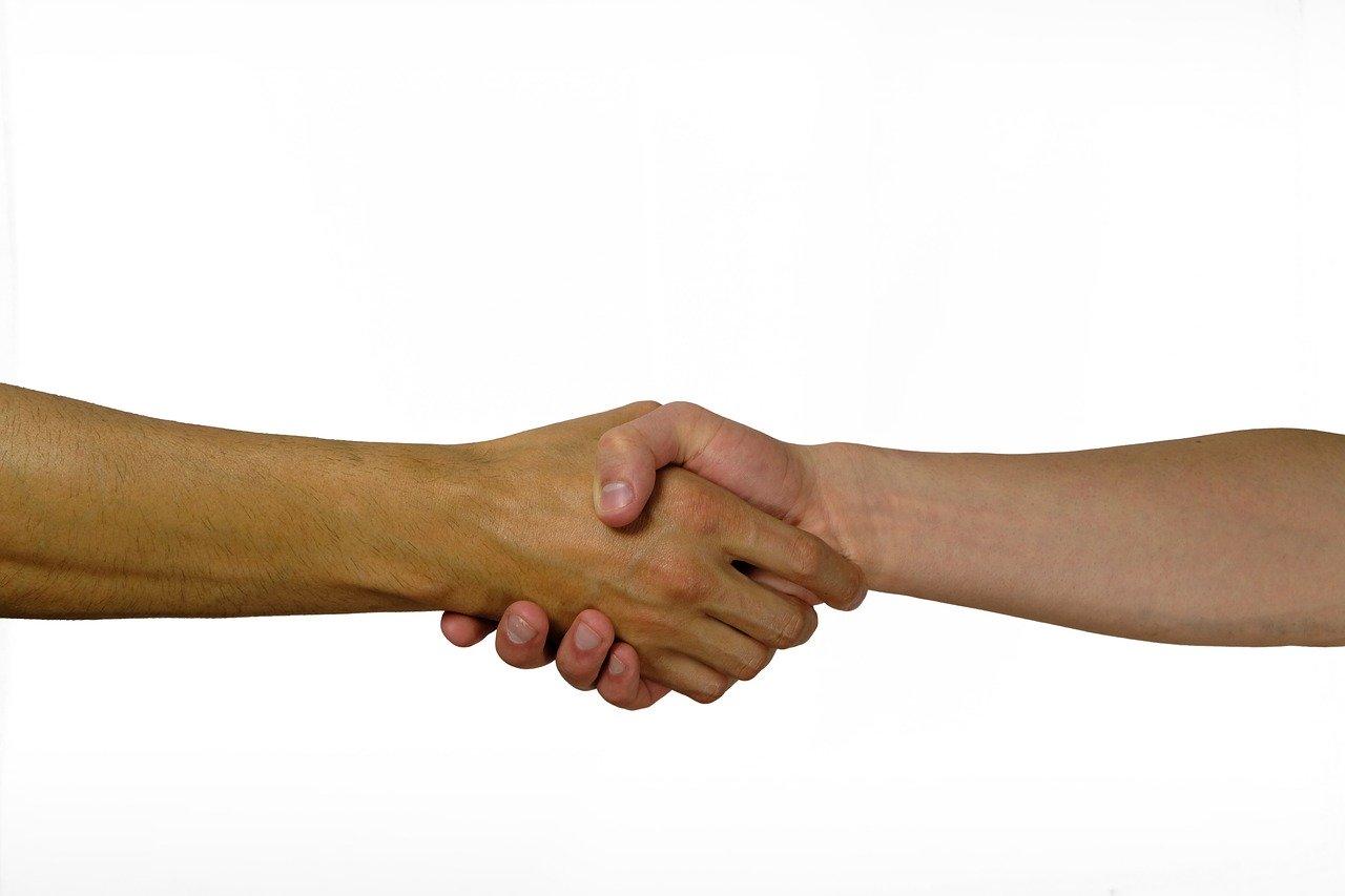 hand geben